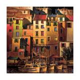 Mediterranean Gold Giclee-tryk i høj kvalitet af Michael O'Toole