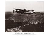 Boeing B-314 over San Francisco Bay, California 1939 Giclée-tryk af Clyde Sunderland