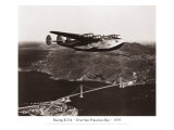 Boeing B-314 over San Francisco Bay, California 1939 Giclee Print by Clyde Sunderland