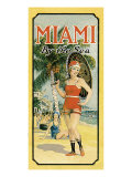 Miami Beach, Florida Giclee Print
