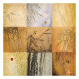 Don Li-Leger - Bamboo Nine Patch Digitálně vytištěná reprodukce