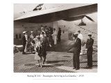 Boeing B-314, Passengers Arrive at La Gaurdia, 1939 Giclee Print by Clyde Sunderland