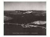 California Clipper, San Francisco Bay, California 1939 Giclée-tryk af Clyde Sunderland