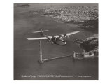 Maiden Voyage, China Clipper, San Francisco, California 1935 Giclee Print by Clyde Sunderland