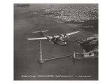 Primer viaje, China Clipper, San Francisco, California, 1935 Lámina giclée por Clyde Sunderland