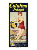 Catalina, Beach Ball, 1927 Giclee Print