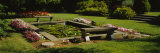 Park Bench Near a Pond, Grand Rapids, Kent County, Michigan, USA Photographic Print by  Panoramic Images