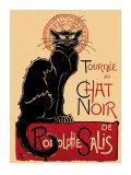 """Tournee der """"schwarzen Katze"""" (Chat Noir), ca. 1896, Französisch Kunstdrucke von Théophile Alexandre Steinlen"""