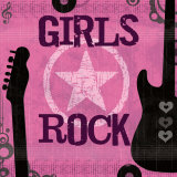 Girls Rock Prints by Louise Carey