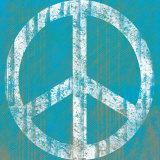Blauer Frieden Kunstdruck von Louise Carey