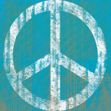 Blue Peace Print by Louise Carey