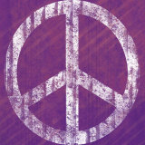 Purple Peace Print by Louise Carey