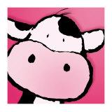 Koe, lichaam van koe met Engelse omschrijving van eetbare gedeelten Posters van Jean Paul