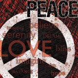 Peace Print by Louise Carey