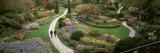 People Walking in Butchart Gardens, Brentwood Bay, Vancouver Island, British Columbia, Canada Photographic Print by  Panoramic Images