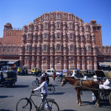 Hawa Mahal, Jaipur, Rajasthan State, India Photographic Print by Tony Gervis