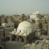 Mosque and City Skyline, Sana'A, Yemen, Middle East Photographic Print by Michael Jenner