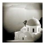 Polaroid of Domed Church, Oia, Santorini, Cyclades, Greek Islands, Greece, Europe Photographic Print by Lee Frost