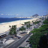 Overlooking Copacabana Beach, Rio De Janeiro, Brazil, South America Photographic Print by Geoff Renner