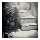 Polaroid of Whitewashed Stone Steps, Oia, Santorini, Cyclades, Greek Islands, Greece, Europe Photographic Print by Lee Frost