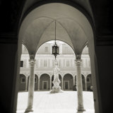 View Through Archways into Sunlit Courtyard, Pisa, Tuscany, Italy Photographic Print by Lee Frost