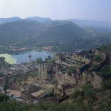View of Palace from Fort, Bundi, Rajasthan State, India Photographic Print by Tony Gervis
