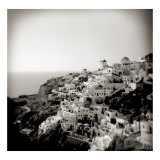 Polaroid of View of the Village of Oia, Santorini, Cyclades, Greek Islands, Greece, Europe Fotografisk tryk af Lee Frost