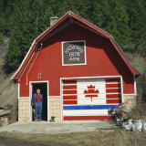 Patriotic Workshop Near Vernon, British Columbia, Canada Photographic Print by Rob Cousins
