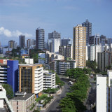 High Rise Buildings on the City Skyline of Salvador in Bahia State in Brazil, South America Photographic Print by Geoff Renner