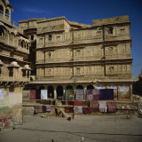 Havelis, Sandstone Houses Built by Wealthy Merchants, Jaisalmer, Rajasthan State, India Photographic Print by Jeremy Bright