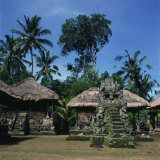 Sashi Grounds of the Pura Temple, Penata Area, Pejeng, Bali, Indonesia, Southeast Asia Photographic Print by James Green