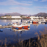 Fishing Boats in Harbour, Sommeroy, Near Tromso, Within the Arctic Circle, Norway, Scandinavia Photographic Print by David Lomax