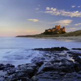 Bamburgh Castle Bathed in Warm Evening Light, Bamburgh, Northumberland, England, United Kingdom Photographic Print by Lee Frost