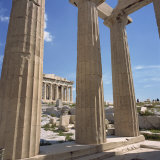 Parthenon Viewed from Propylaea, the Acropolis, UNESCO World Heritage Site, Athens, Greece Photographic Print by Roy Rainford