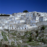 Houses of the Village of Monte Sant Angelo in Puglia, Italy, Europe Photographic Print by Tony Gervis