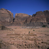 Nabatean Temple Dating from the 1st Century AD, Wadi Rum, Jabal Umm Ishrin, Jordan, Middle East Photographic Print by Christopher Rennie