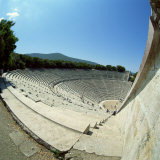 Theatre at the Archaeological Site of Epidavros, UNESCO World Heritage Site, Greece, Europe Photographic Print by Tony Gervis