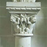 Carved Capital, One of 223 Capitals of Beasts, Cunault, Anjou, Pays De La Loire, France Photographic Print by Tony Gervis