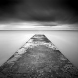 Concrete Jetty on Blyth Beach, Northumberland, England, United Kingdom, Europe Photographic Print by Lee Frost