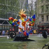 Colourful Sculptures of the Tinguely Fountain, Pompidou Centre, Beaubourg, Paris, France, Europe Photographic Print by Roy Rainford