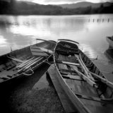 Two Old Boats by Lake Side, Derwentwater, Lake District National Park, Cumbria, England, UK Photographic Print by Lee Frost