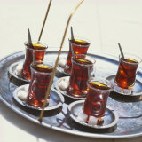 Tray of Turkish Teas, Turkey, Eurasia Fotografie-Druck von John Miller