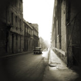 Early Morning Street Scene with Old American Car, Havana, Cuba Photographic Print by Lee Frost