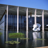 Palacio Do Itamaraty, Brasilia, UNESCO World Heritage Site, Brazil, South America Photographic Print by Geoff Renner