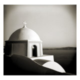 Polaroid of Domed Church, Fira, Santorini, Cyclades, Greek Islands, Greece, Europe Photographic Print by Lee Frost