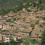 Houses in the Village of Fornalutx on Majorca, Balearic Islands, Spain, Europe Photographic Print by John Miller