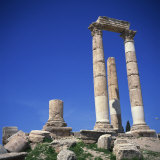 Roman Temple of Hercules, Dating from 169-180 AD, Jebel Al-Qal'A, Amman, Jordan, Middle East Photographic Print by Christopher Rennie