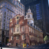 Red Brick Old State House, Boston, Massachusetts, New England, USA Photographic Print by Roy Rainford