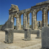 Roman Ruins, Volubilis, UNESCO World Heritage Site, Morocco, North Africa, Africa Photographic Print by James Green