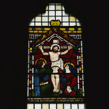 Crucifixion by Maddox Brown, Selsley Church, Gloucestershire, England, UK Photographic Print by Rob Cousins